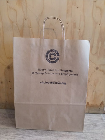 Paper Bag Used By Circle Collective Stores