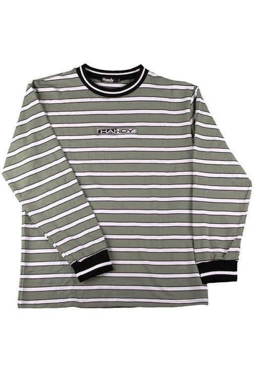 HANDY SUPPLY CO Long Sleeve Tee  Striped Striped Heavyweight Olive - Circle Collective