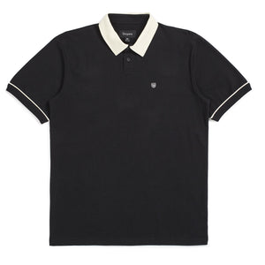 BRIXTON Polo Shirt Carlos Knit Black/Dove
