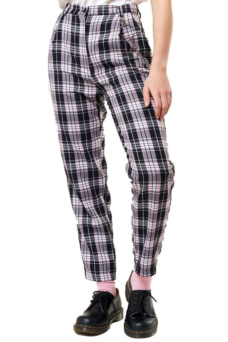 MINGA Trousers Emma Plaid With Chain - Circle Collective