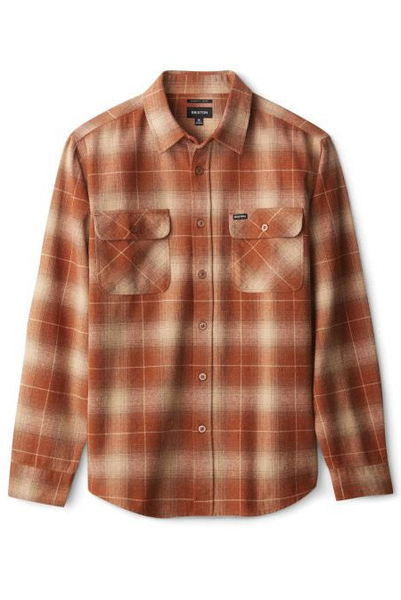 BRIXTON Shirt Bowery L/S Flannel Copper - Circle Collective