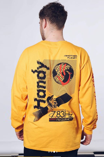 HANDY SUPPLY CO T-Shirt L/S Acid:// Another Planet Mustard