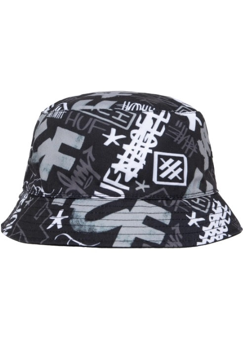 HUF Bucket Hat Haze Black Reversible - Circle Collective