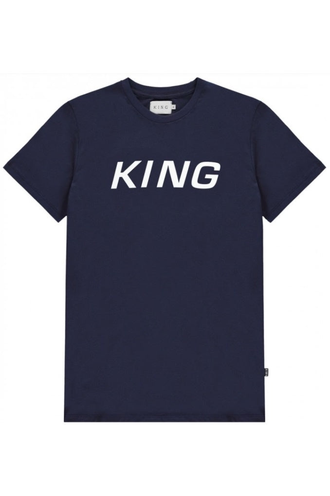 KING APPAREL T-Shirt Dalston Ink Blue - Circle Collective