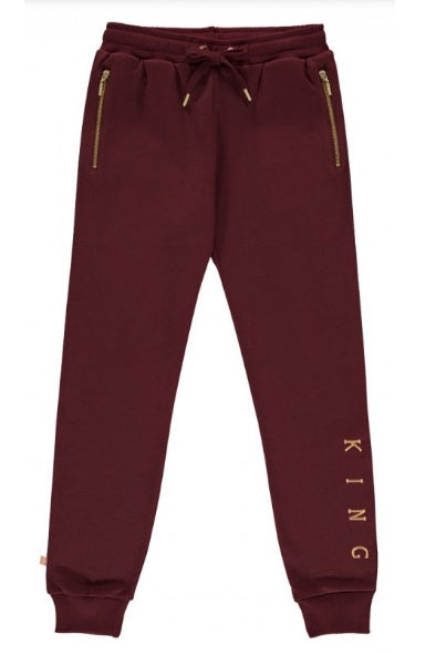 KING APPAREL Track Pant Tennyson Oxblood/Gold - Circle Collective