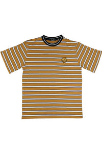 HANDY SUPPLY CO T-Shirt Striped Vintage Heavyweight Mustard Yellow - Circle Collective