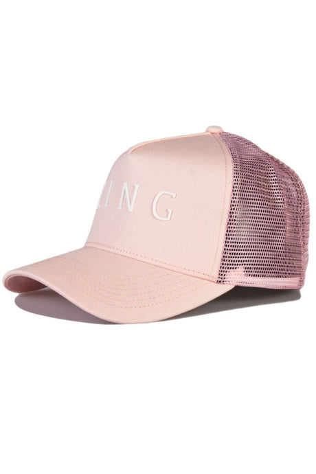 KING APPAREL Mesh Trucker Cap Leyton Blush - Circle Collective