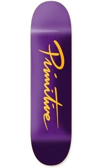PRIMITIVE Deck Core Programme Nuevo Script Team Purple/Gold 8.25