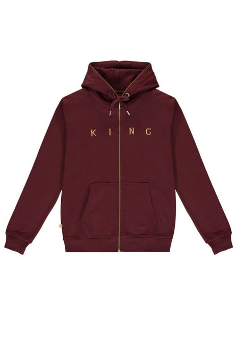 KING APPAREL Hoodie FZ Tennyson Oxblood/Gold - Circle Collective