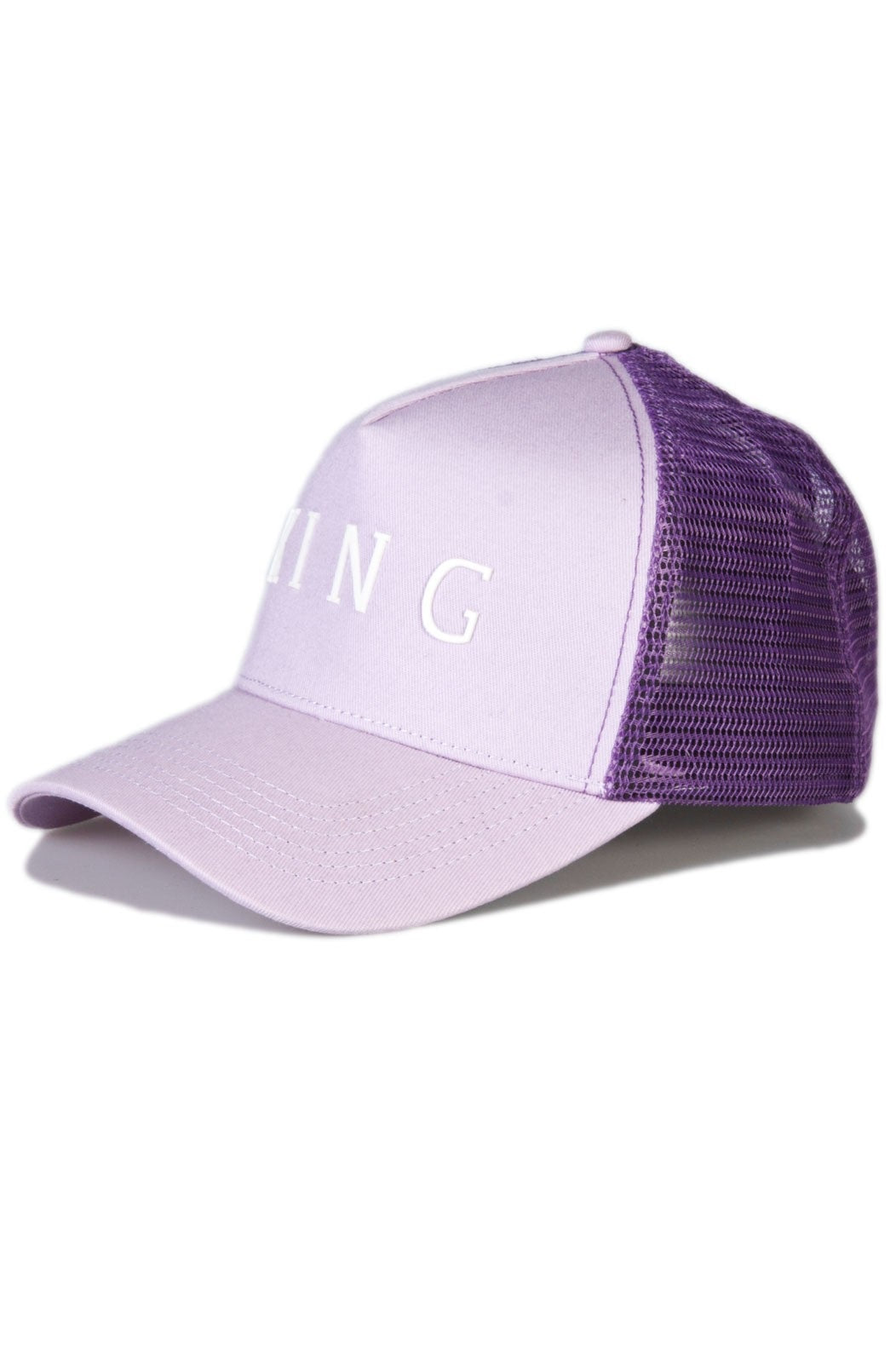 KING APPAREL Mesh Trucker Cap Leyton Lilac - Circle Collective