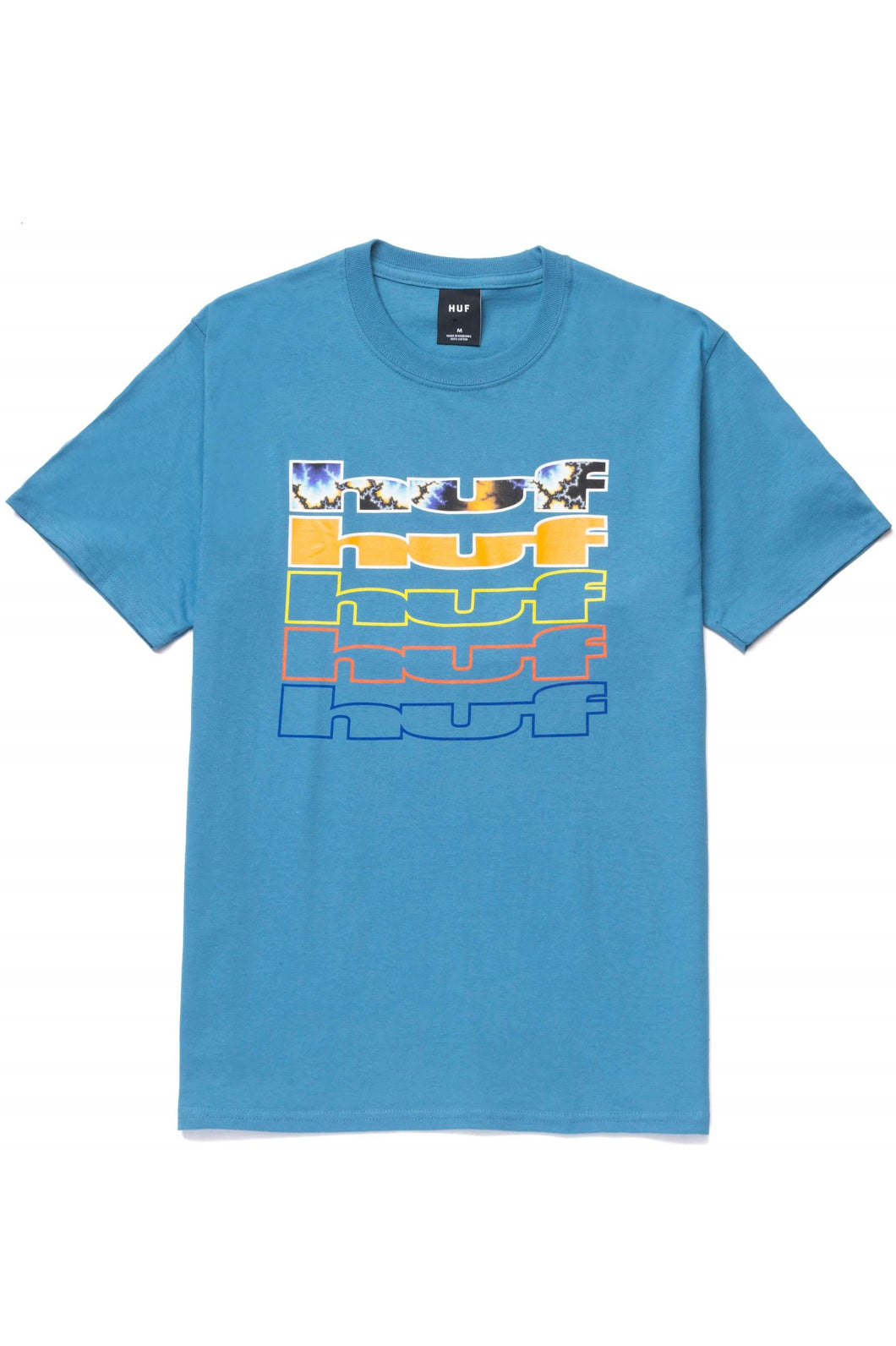 HUF T-Shirt Fractal Columbia Blue - Circle Collective