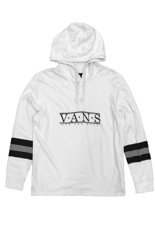 VANS Hoodie Stanstead White/Black - Circle Collective