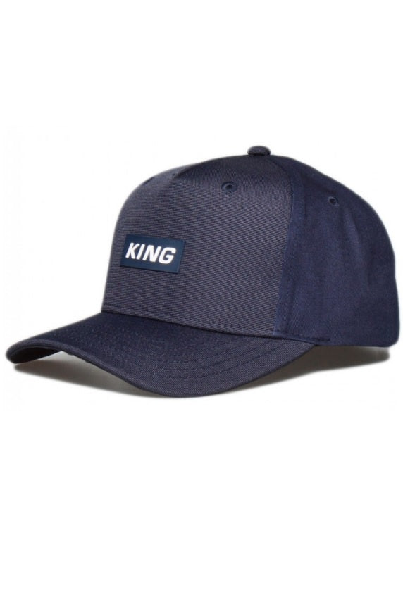 KING APPAREL Curved Cap Dalston Ink Blue - Circle Collective