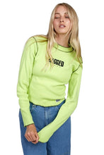 THE RAGGED PRIEST Long Sleeve Tee Wired Lime - Circle Collective