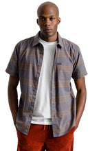 BRIXTON T-Shirt Short Sleeve Shirt Charter Woven Charcoal - Circle Collective