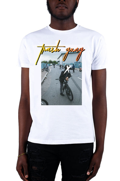 TRASH GXNG T-Shirt London Vice White/Orange - Circle Collective
