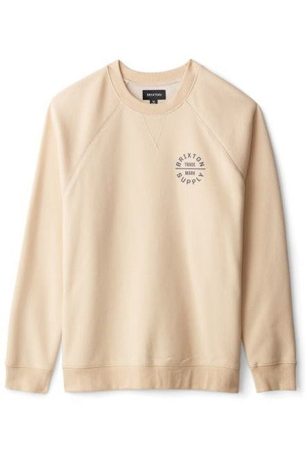 BRIXTON Sweatshirt Crew Oath V Gravel - Circle Collective
