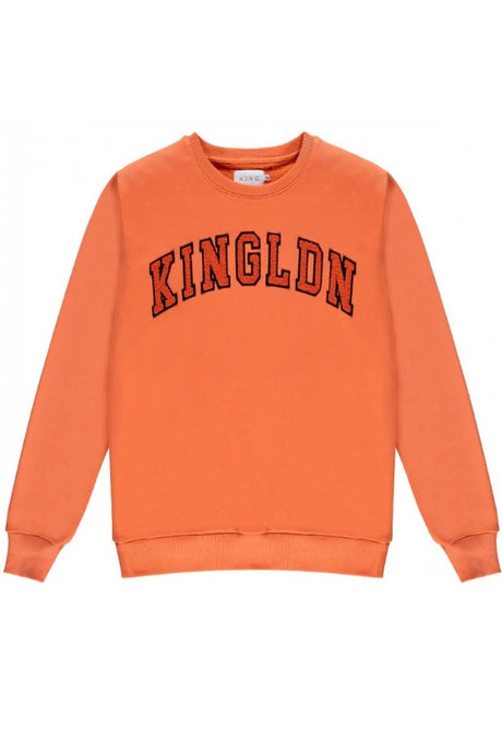 KING APPAREL Sweatshirt Blackwall Citrus Orange - Circle Collective