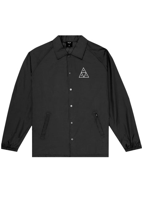 HUF Coaches Jacket Triple Triangle Black - Circle Collective