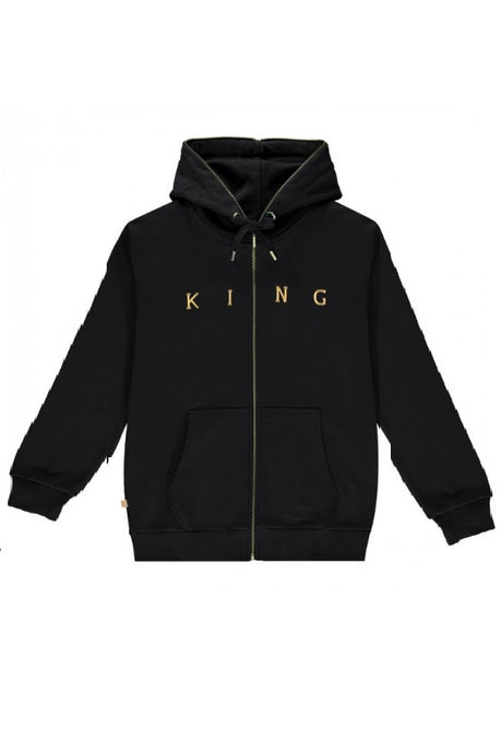 KING APPAREL Tracksuit Hoodie Tennyson Gold Black - Circle Collective