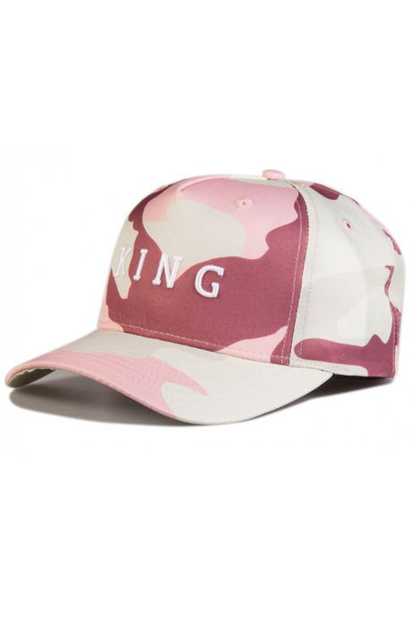 KING APPAREL Curved Cap Aldgate Blush Pink Camo - Circle Collective