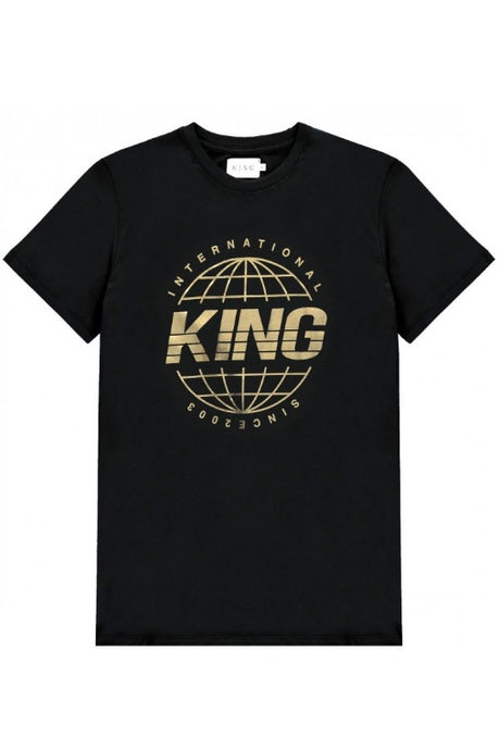 KING APPAREL T-Shirt Bethnal Black/Gold - Circle Collective