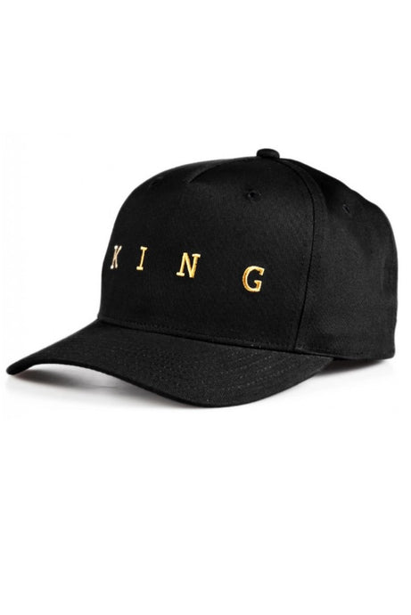 KING APPAREL Curved Cap Tennyson Gold Black - Circle Collective