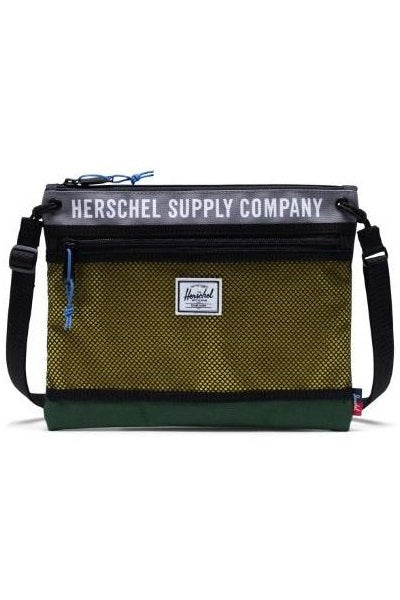 HERSCHEL Shoulder Bag Alder Poly Grey/Green - Circle Collective