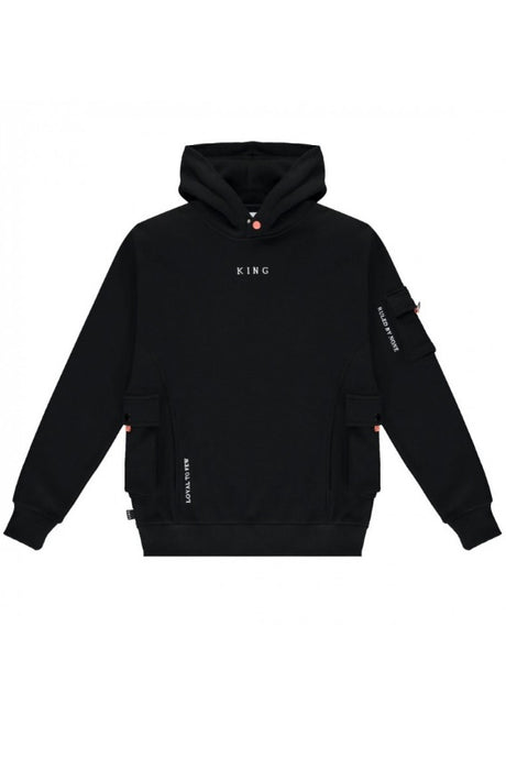 KING APPAREL Hoodie Earlham Techwear Black - Circle Collective