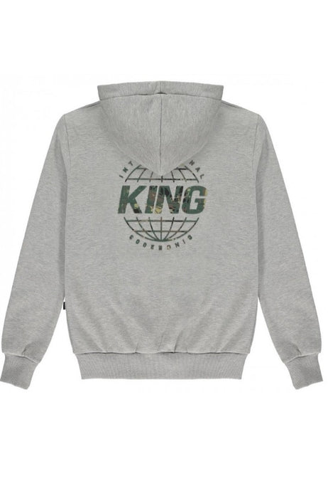 KING APPAREL Hoodie Bethnal Grey/Camo - Circle Collective