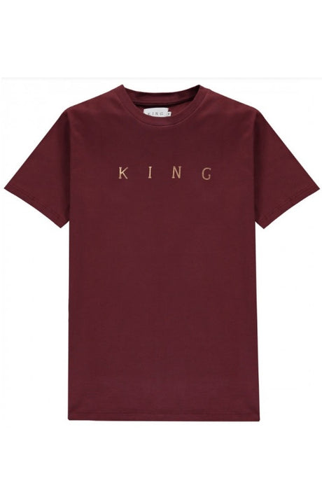 KING APPAREL T-shirt Tennyson Gold Oxblood - Circle Collective