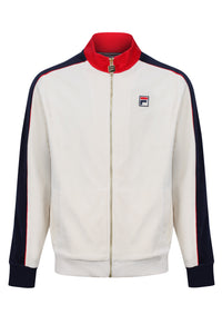 FILA VINTAGE Track Top Cima Velour Turtle Dove/Peacoat - Circle Collective