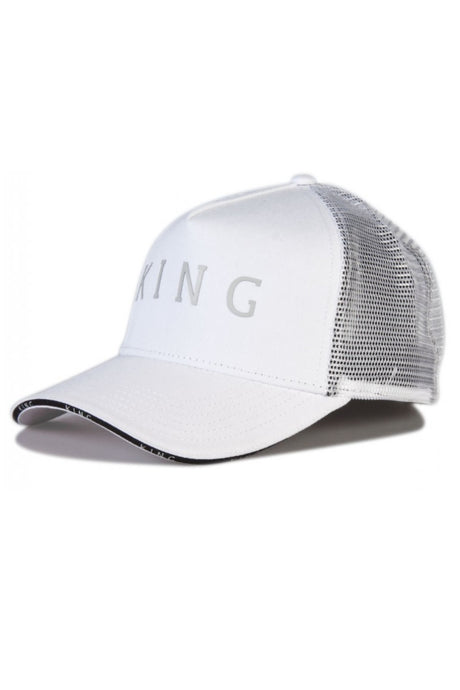 KING APPAREL Mesh Trucker Cap Stepney White - Circle Collective