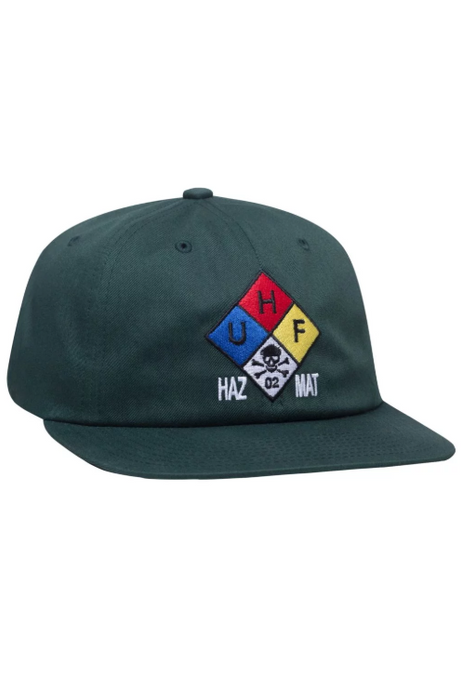 HUF Cap 6 Panel Hazard Botanical Green - Circle Collective