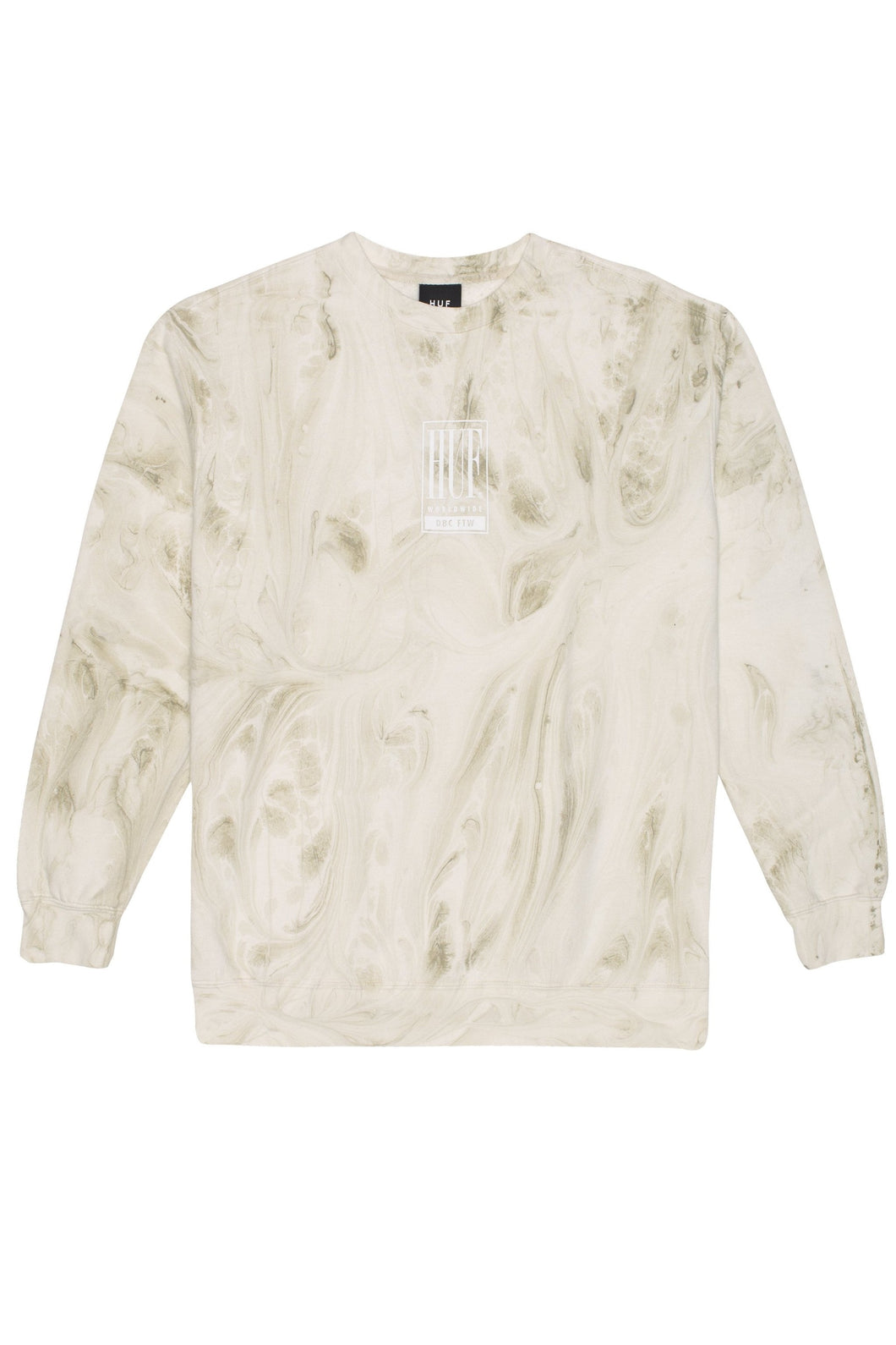 HUF Sweatshirt Crew Neck Elias Unbleached - Circle Collective