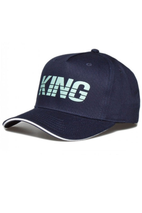 KING APPAREL Curved Cap Manor Navy - Circle Collective