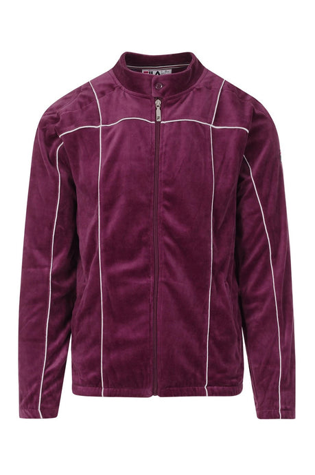 FILA VINTAGE Track Top Terrinda 2 Velour Prune/Turtle Dove - Circle Collective