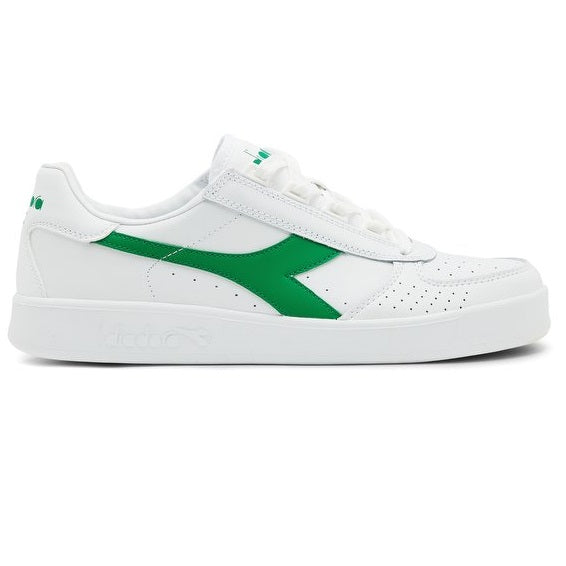 DIADORA B/ Elite White/White/Jelly Bean Green