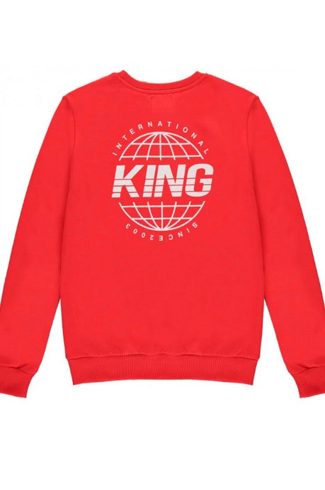 KING APPAREL Sweatshirt Bethnal Crimson Red - Circle Collective