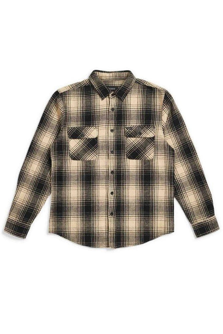 BRIXTON Shirt Bowery Black/Bone - Circle Collective