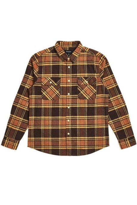 BRIXTON Shirt Bowery Brown/Gold - Circle Collective