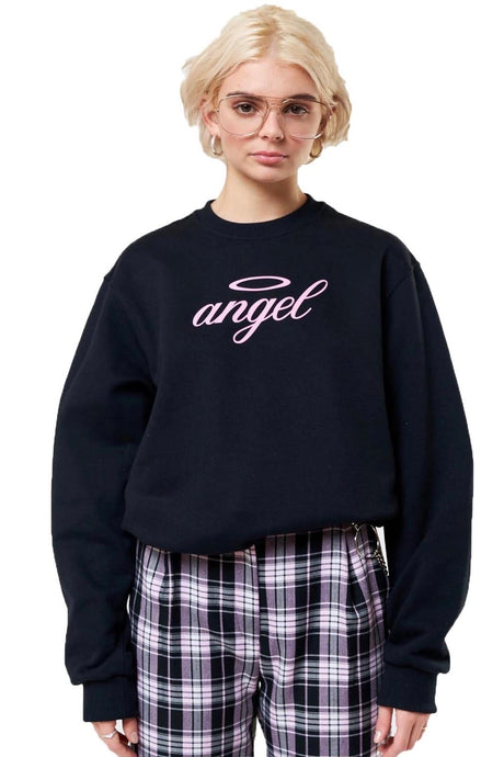 MINGA Sweatshirt Angel Black/Pink - Circle Collective