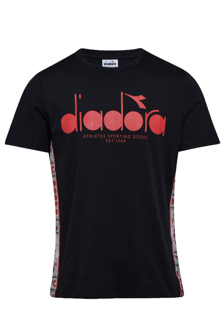DIADORA T-SHIRT 5PALLE OFFSIDE BLACK/RED CAPITAL - Circle Collective