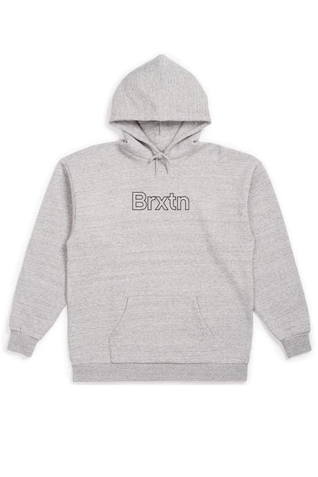 BRIXTON Hoodie Gate II Heather Grey - Circle Collective