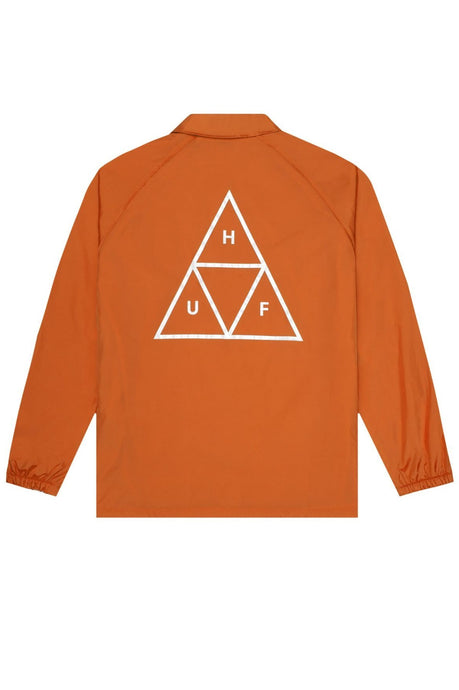 HUF Coaches Jacket Triple Triangle Rust Orange - Circle Collective