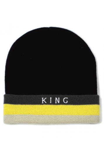 KING APPAREL Beanie Blackwall Black - Circle Collective