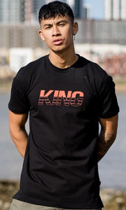 KING APPAREL T-Shirt Manor Black/Red - Circle Collective