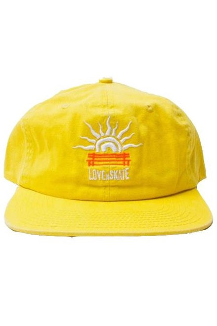 LOVENSKATE Cap 6 Panel 'LUST 4 CURBS' Yellow - Circle Collective