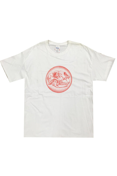 RCC Mens T-Shirt Animal Skull White - Circle Collective