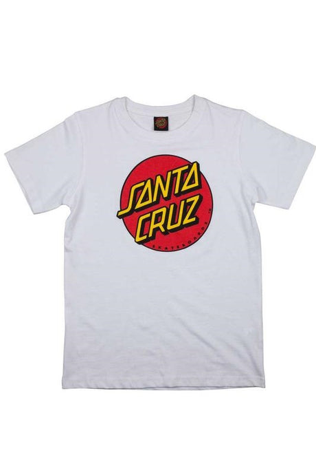 SANTA CRUZ T-Shirt Classic Dot White | Circle Collective | CC Skate